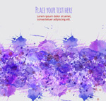 Purple watercolor ink backgrounds vector