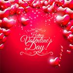 Stylish Valentine background vector