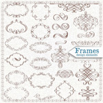 Ethnic style decorating patterns vector