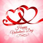 Romantic heart-shaped Ribbon vector
