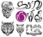 Tattoo tattoos 4 vector