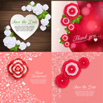 Fashion paper flowers vector