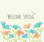Welcoming the spring flowers vector
