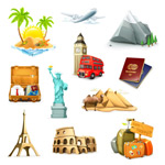 Exquisite tourism icon vector
