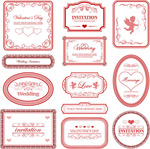 Valentine pattern border vector