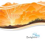 Sunset sunset background vector