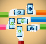 Take the handset arm vector