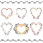 European-style heart-shaped pattern vector