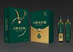 Camellia oil box vector