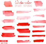 Red water ink vector
