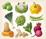 Vegetable fashion design vector