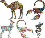 Animal tattoos tattoo 3 vector