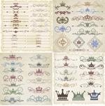 Crown pattern vector