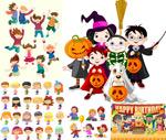 Cartoon kid characters vector