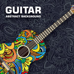 Pattern-guitar vector