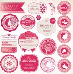Beauty care labels vector
