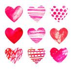 Watercolor heart design vector