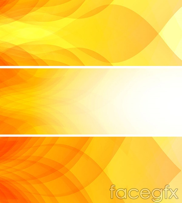 stylish yellow banner vector free download