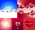 Valentine heart-shaped flowers vector