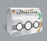 Ginseng gift box packaging vector