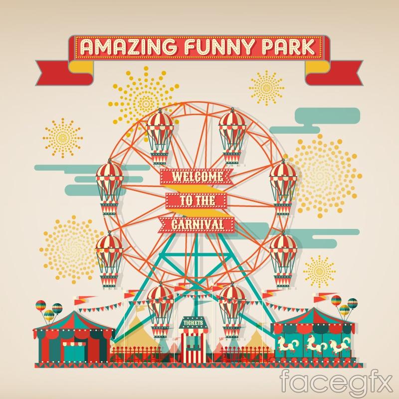 The Creative pl... Ferris Wheel Vector Free Download