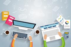 Business Desk top vector