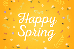 Happy Spring WordArt vector