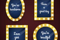 4 creative stage makeup mirror vector