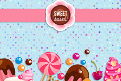 Beautiful sweet background vector