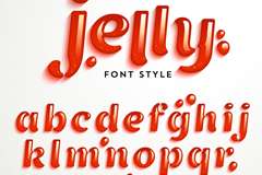 Creative Jello letter design vector