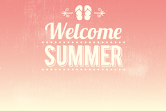 Welcome summer poster vector