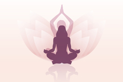 Yoga Lotus background woman logo vector