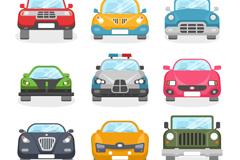 9 cartoon vehicle design vector graph