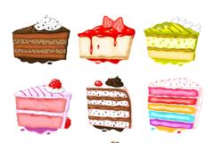 9 delicious triangular cake vector