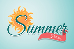 Creative Arts summer holiday vector images