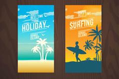Summer vacation 2 creative banner vector