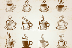 16 gourmet coffee pictures vector