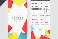 Fashion ticket design vector