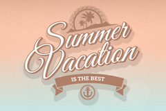Summer holiday word art vector