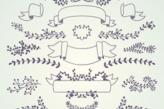 19 branches with Ribbon design vector graph