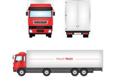 3 beautiful truck vector