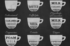 9 creative Italy coffee single vector