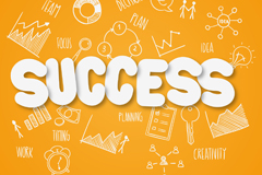 Business success clip art vector