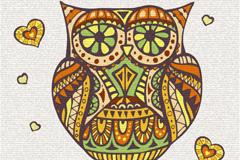 Creative OWL pattern vector