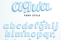 Letters 26 drops design vector