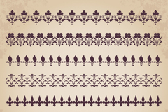 7 pattern design vector graph