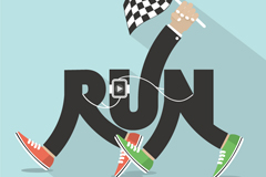 Creative running WordArt vector