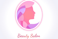 Woman faces Beauty Salon logo vector