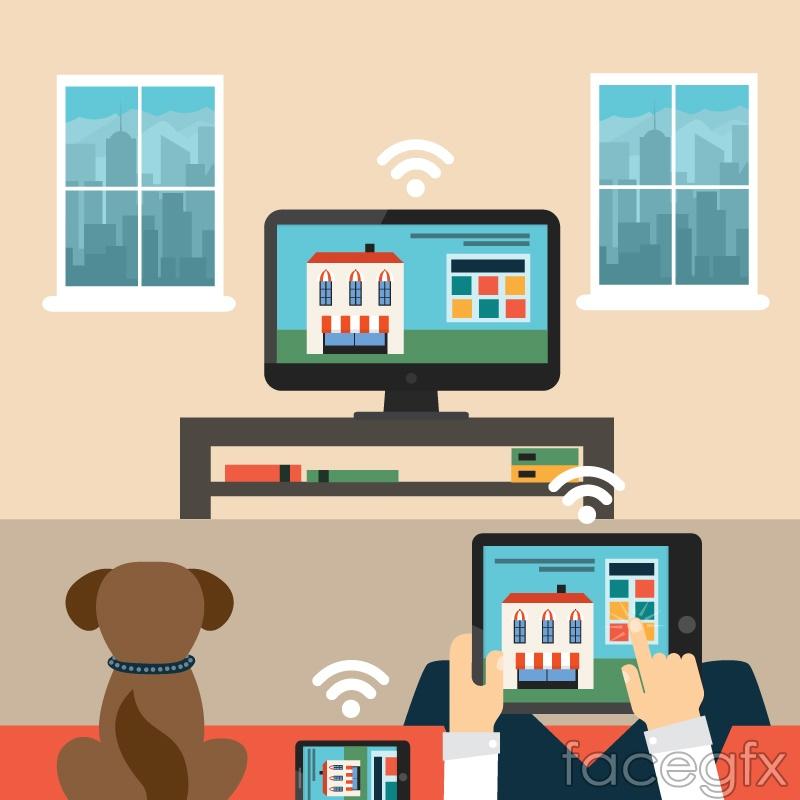 Smart Home vector illustration   Free download