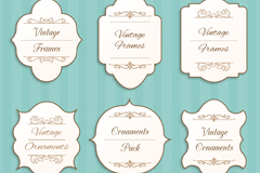 6 vintage label design vector graph